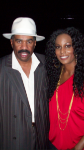 Rachel from Music Machine USA with Steve Harvey